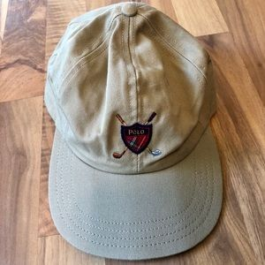 Khaki Polo adjustable hat in new condition!